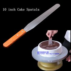 Stainless steel handle 10 inch KNIFE rubber sword kiss cake baked cake mould tool offset spatula 1pc