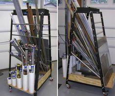 Shop Made Tools - Page 95 - stock storage rack Steel Storage Rack, Steel Racks, Metal Rack, Metal Shop, Workshop Layout, Workshop Storage, Garage Tool Storage, Diy Storage, Storage Bins