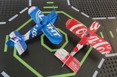 Ok these recycled soda can airplanes are just plain fun!!