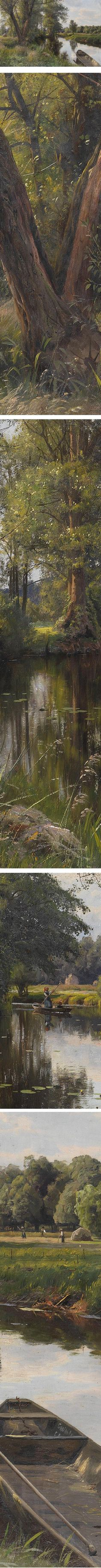 Eye Candy: Summer landscape with river floodplain, Peder Mork Monsted