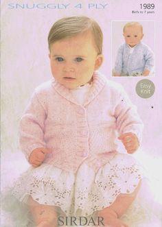 Sirdar 1989 baby cardigans  baby knitting pattern * ORIGINAL *