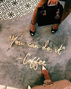 The kind of motivation I need this . The kind of motivation I need this . But First Coffee, Coffee Love, Deco Restaurant, Cafe Interior Design, Coffee Shop Design, Pretty Words, Coffee Quotes, Louis Vuitton Speedy Bag, Shopping