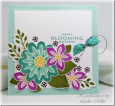 Beautiful SU! Flower Patch card from the lovely Leslie Miller! I love her style!