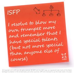 ISFP New Year's Resolutions