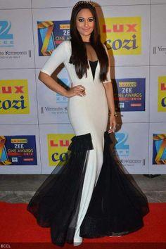 Bollywood actress Sonakshi Sinha at the Zee Cine Awards 2014