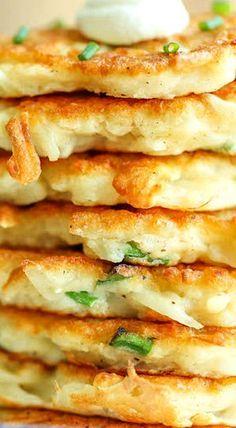 Easy Potato Pancakes add celery and corn German Potato Pancakes, Pancakes Easy, Polish Potato Pancakes, Leftover Mashed Potato Pancakes, Vegetarian Recipes, Cooking Recipes, Healthy Recipes, Keto Recipes, Cuisine Diverse