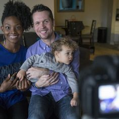 Gabe Flowers, 32, and her husband Chad Rader have turned video blogging on Youtube into a full-time job.