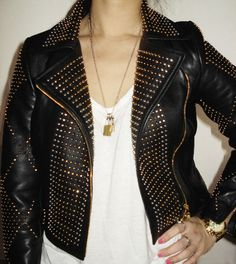 H&M; x Versace studded leather jacket.. awesome!