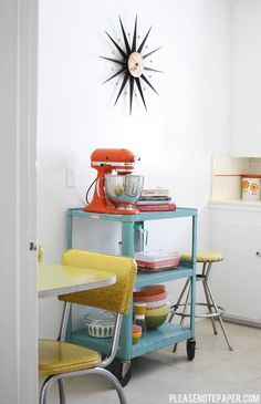 Totally kitschy and lovely vintage kitchen!