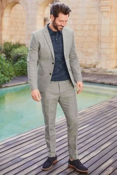 ee24383afbc Elevate your occasion look with our light grey suit jacket. Made from the  finest of