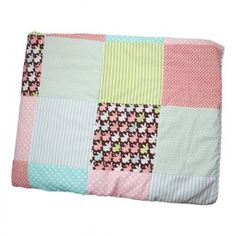 Oobi Patchwork Bedspread Pink Bunny
