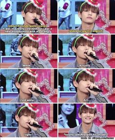 you see V is confident when his translation is on poin.... NVM! XD   allkpop Meme Center