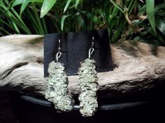 Lichen Earrings by NaturesWearables on Etsy
