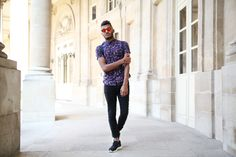 Purple is the new black ! Asos shirt and glasses  mrfoures.com