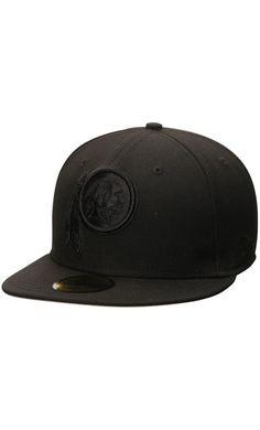 NFL Men s Washington Redskins New Era Black Tonal 59FIFTY Fitted  Hat  trip 54af107587f7