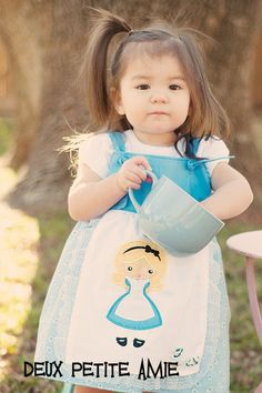 Alice in Wonderland apron dress
