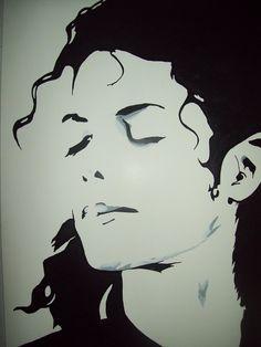 My third Michael Jackson stencil, my favorite to date