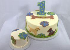 https://flic.kr/p/e7ZaSG | Puppy Dog Birthday Cake and Smash Cake
