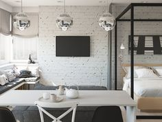 Studio Apartment Efficiency Design Ideas with The Advantages - Four Small Studios That Explore Fun and Whimsical Styles