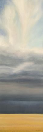 "Ian Sheldon ""Tall Harvest Sky"". Brilliant Canadian artist who understands the Prairies."