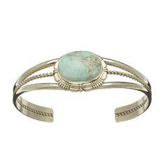 bracelet harpo, turquoise et argent, 395E