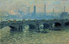 Claud Monet.Waterloo Bridge, Grey Weather, 1903
