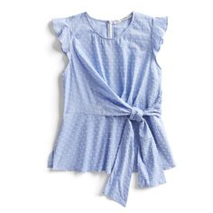 Spring Stylist Picks: Clip dot tie-detail blouse If I could buy this right now, I would. Subtle dot pattern, tie front that hits more at the side instead of the front, soft color, and ruffle sleeve is so pretty. Pretty Outfits, Cute Outfits, Stitch Fit, Stitch Fix Outfits, Fashion Outfits, Mommy Fashion, Women's Fashion, Fashion 2018, Latest Fashion
