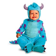 Disney Pixar Monster Holloween Custome University Sulley Classic Infant Toddler…