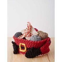 Santa's Crochet Gift Basket | AllFreeCrochet.com