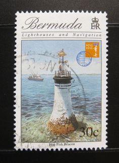 Bermuda 1996 Hog Fish Beacon Lighthouse SC 727 Postally Used 0996A | eBay