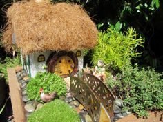 Hobbit Style Fairy House with tutorial on how to make it.