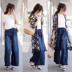 Xl Fashion, Japan Fashion, Denim Fashion, Hijab Fashion, Womens Fashion, Minimal Fashion, Minimal Style, Spring Wear, Casual Chic