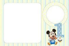Festa Mickey Baby, Fiesta Mickey Mouse, Mickey 1st Birthdays, Mickey Mouse Decorations, Happy Birthday Wallpaper, Free Printables, Symbols, Cards, Invitation Birthday