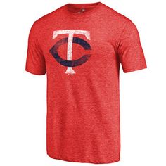 Minnesota Twins Red Distressed Team Tri-Blend T-Shirt #twins #mlb #minnesota
