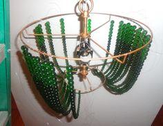 Andere Variante von Glasperlen Leuchter
