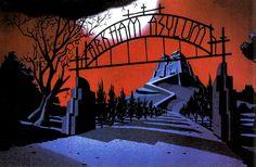 Batman: The Animated Series album - Batman Poster - Trending Batman Poster. - Batman: The Animated Series Background Art Batman Poster, Batman Comic Art, Bruce Timm, Cartoon Background, Animation Background, Background Patterns, Gotham City, Batman Painting, Univers Dc