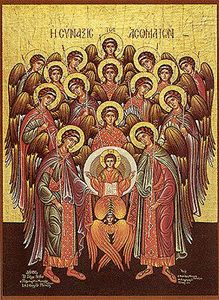 Traditionally there are nine orders of spiritual beings, as seraphim, cherubim, thrones, dominions, virtues, powers, principalities, archangels, and angels. ✨—Jean Kincaid ✨