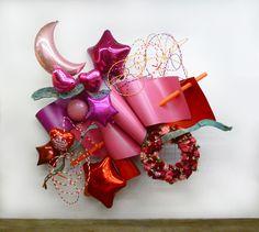 Adam Parker Smith Valley, 10′ by 10.5′ by 2.5′, steel, foam, resin, plastic, faux flowers, resin-filled mylar, 2015