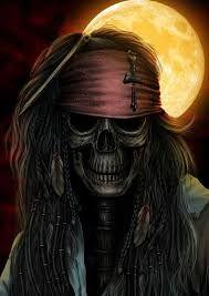 Bird Skull Tattoo, Pirate Skull Tattoos, Joker Images, Creepy Images, Dark Fantasy Art, Dark Art, Jack Sparrow Drawing, Jack Sparrow Wallpaper, Zombie Wallpaper
