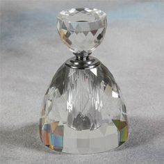 Stunning Crystal Handbell Style Perfume Scent Bottle Clear Glass Extra Large | eBay