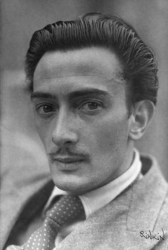 Salvador Dali, 1935, by Anna Riwkin  | what a conservative photo - he was actually handsome!