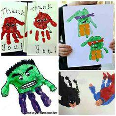 Superhero handprints!!