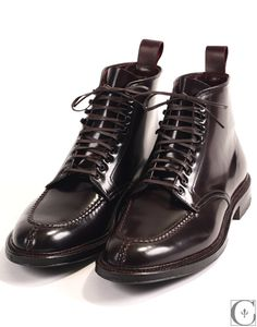 To know more about ALDEN Number 8 Shell Cordovan Tanker Boot, visit Sumally, a social network that gathers together all the wanted things in the world! Sock Shoes, Men's Shoes, Dress Shoes, Cordovan Shoes, Alden Cordovan, Brogues, Tanker Boots, Only Shoes, Cool Boots