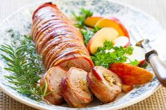 Bacon-Wrapped Stuffed Pork Tenderloin