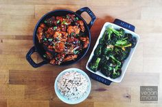 Gochujang Tempeh + Blasted Broccoli