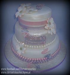 Communietaart Babyshower, Cake, Desserts, Food, Tailgate Desserts, Deserts, Baby Shower, Kuchen, Essen