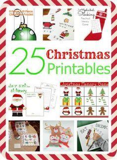 25 Christmas Printab