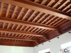 New Construction Projects Wooden Ceiling Design, Interior Ceiling Design, Wood Design, Interior Decorating, Faux Ceiling Beams, Wooden Ceilings, Black House Exterior, Interior And Exterior, Medieval Bedroom
