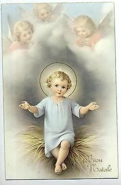 Holy Art ZANDRINO Child Jesus w Angels Religion Vintage PC Circa 1930 A