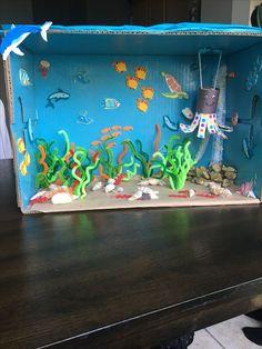 Under the ocean octopus diorama